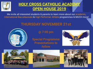 HOLY CROSS OPEN HOUSE!  You are cordially invited to our annual open house!  See poster for details